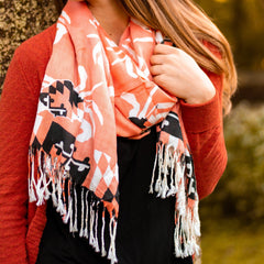 Maryland Crab Pattern (Orange) / Scarf