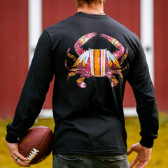DC Football Home Team Crab *Back Print* (Black) / Long Sleeve Shirt