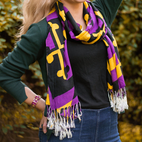 Purple & Gold Maryland Flag / Scarf