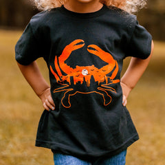 Spooky Skyline Crab (Black) / *Toddler* Shirt
