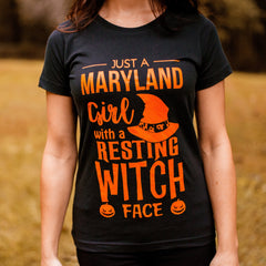 Resting Witch Face (Black) / Ladies Shirt