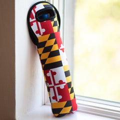 Maryland Flag / Wine Bottle Koozie