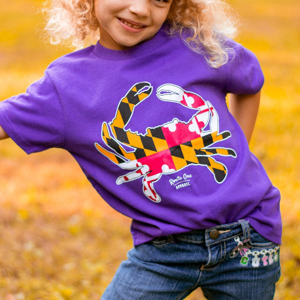 Maryland Full Flag Crab (Purple) / *Toddler* Shirt