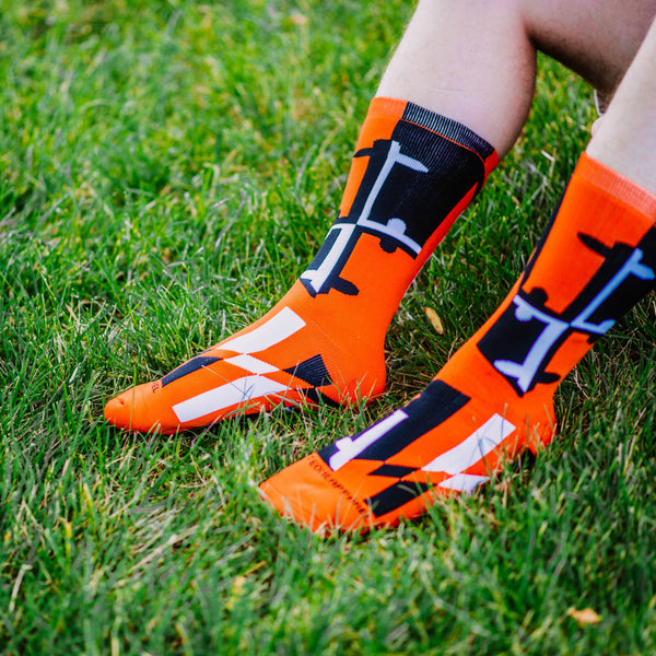 Baltimore Black & Orange Maryland Flag / Crew Socks - Route One Apparel