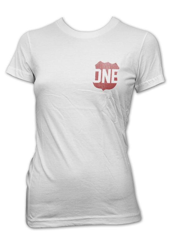 Route One Apparel Classic Flag & Crab (White) / Ladies Shirt