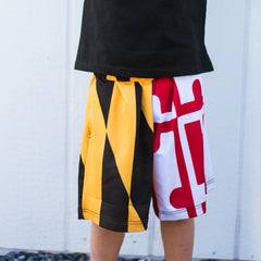 Maryland Flag / *Youth* Athletic Shorts