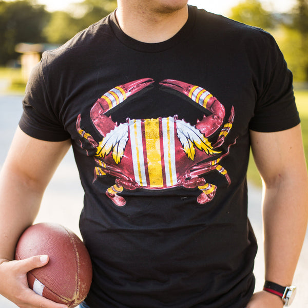 DC Football Home Team Crab *Front Print* (Black) / Shirt - Route One Apparel