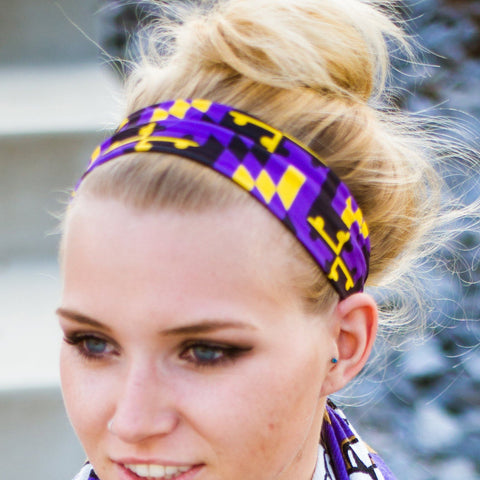 Purple & Gold Maryland Flag (Style 2) / Headband