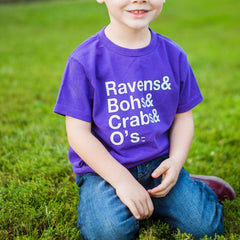 Ravens & Bohs & Crabs & O's (Purple) / *Toddler* Shirt
