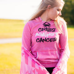 Crabs Against Cancer (Wildberry) / Ladies Hoodie - Route One Apparel