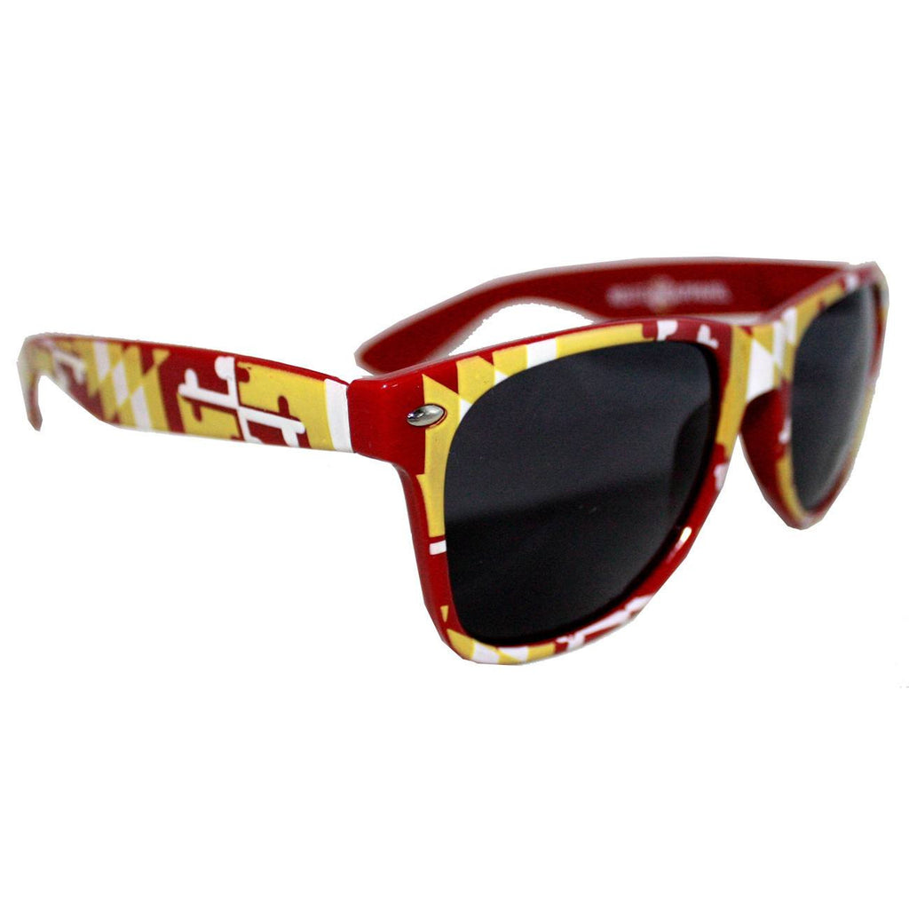 Burgundy & Gold Maryland Full Flag / Shades - Route One Apparel
