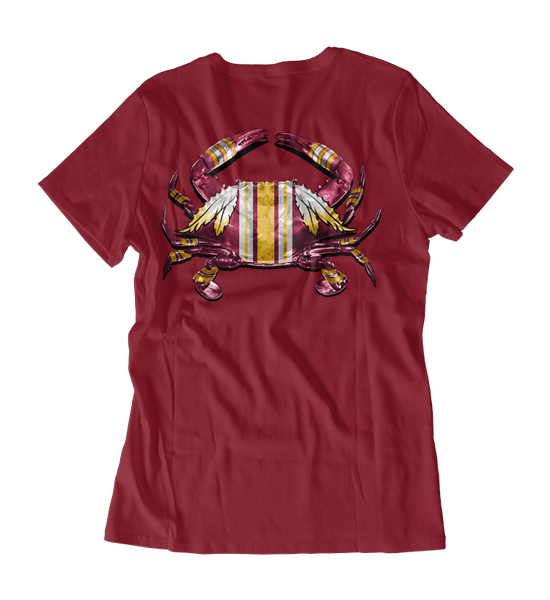 DC Football Home Team (Cardinal) / Ladies V-Neck Shirt