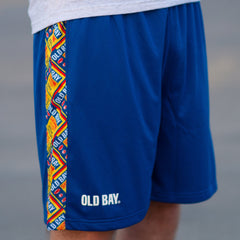 Old Bay Can Pattern Sides (Royal) / Running Shorts (Men)