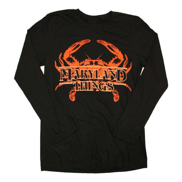 Maryland Things (Black) / Long Sleeve Shirt