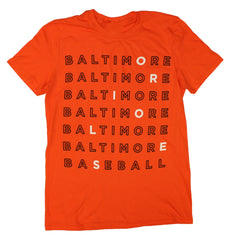 Baltimore Baseball Text (Orange) / Shirt - Route One Apparel