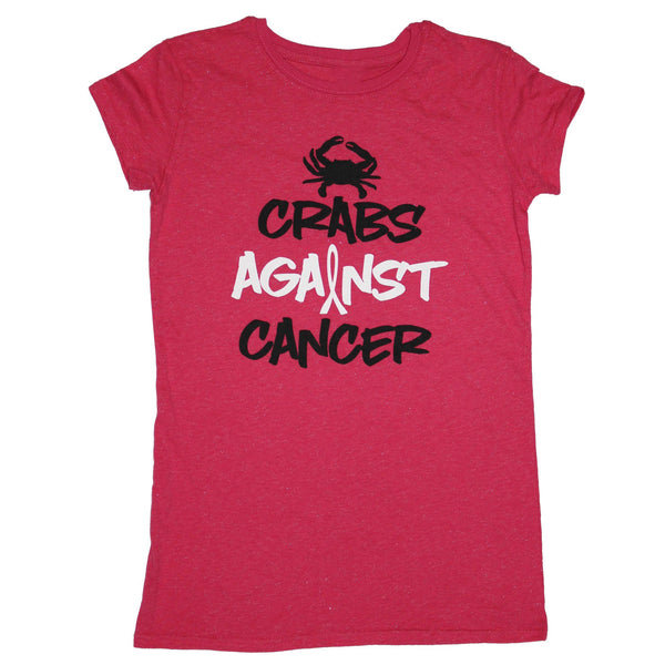 Crabs Against Cancer (Pink Sparkle) / Ladies Shirt