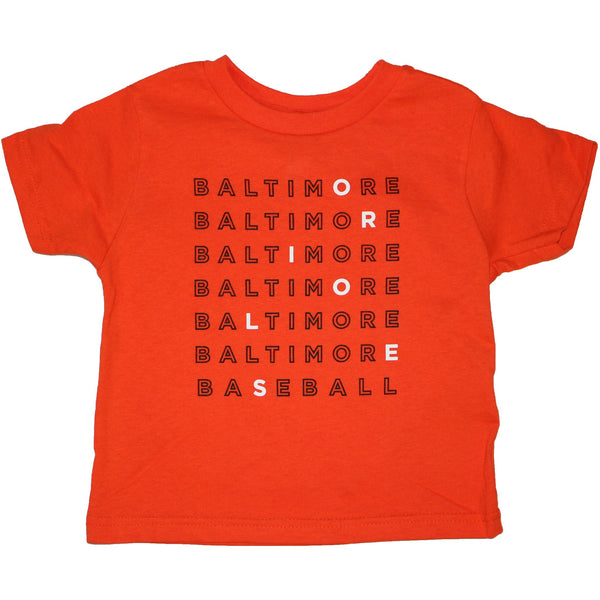 Baltimore Baseball Text (Orange) / *Toddler* Shirt