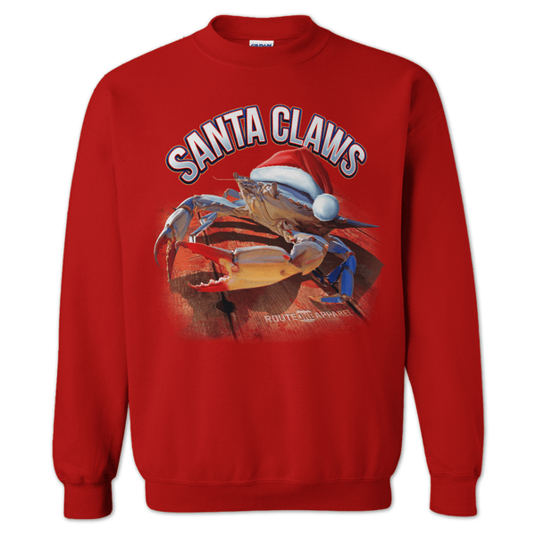 Santa Claws (Red) / Crew Sweatshirt