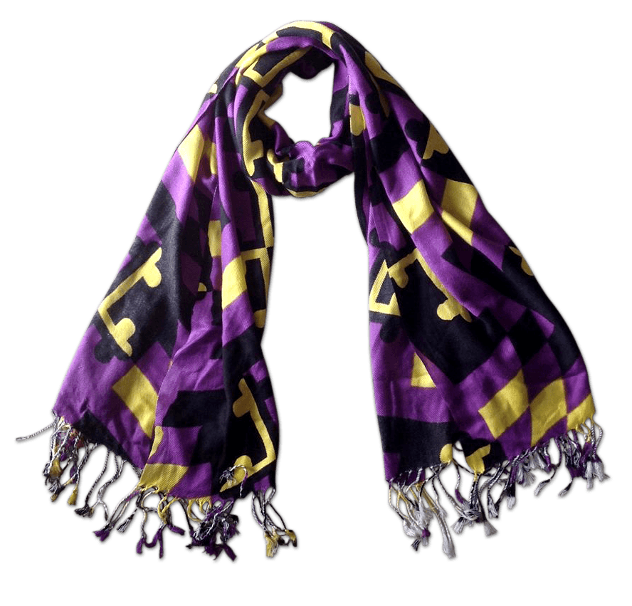 Baltimore Football Purple & Gold Maryland Flag / Scarf - Route One Apparel