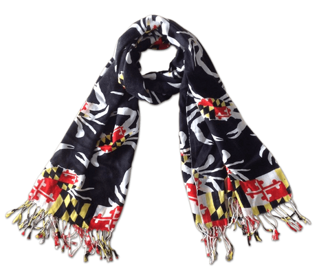 Maryland Crab Pattern (Black) / Scarf