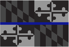 Maryland Flag Blue Line / Flag