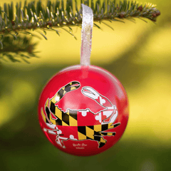 Maryland Full Flag Crab (Red) / Ornament