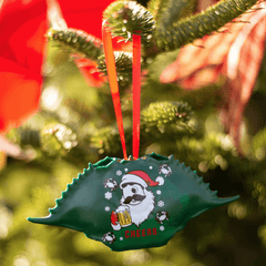 Natty Boh Christmas Cheers (Green) / Crab Shell Ornament