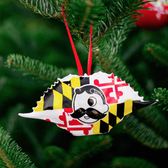 Natty Boh Logo Maryland Flag (Style 1) / Crab Shell Ornament