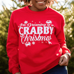 Dreaming of a Crabby Christmas (Red) / Crew Sweatshirt