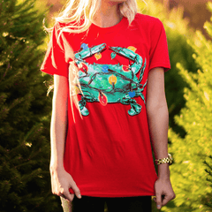 Christmas Lights Crab (Red) / Shirt