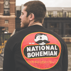 National Bohemian Retro (Black) / Crew Sweatshirt
