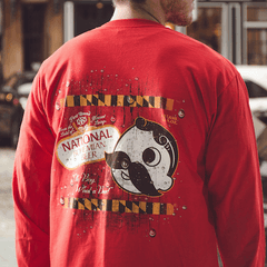 National Bohemian Logo w/ Calvert Stripes (Red) / Long Sleeve Shirt