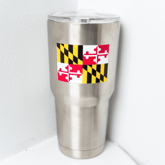 Maryland Flag Logo (Stainless) / Tumbler