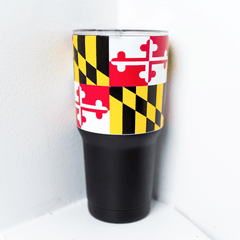 Maryland Flag (Black) / Tumbler