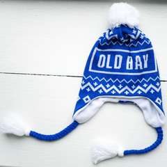 Old Bay & Chevron (Blue w/ White Pom) / Ski Hat