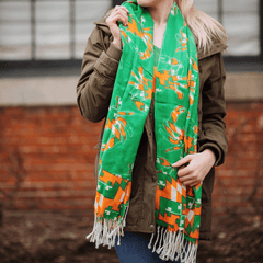 Irish Maryland Crab Pattern (Green) / Scarf