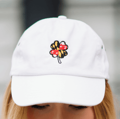 Maryland Flag 4-Leaf Clover (White) / Baseball Hat