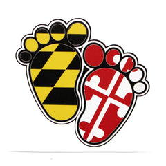 Maryland Flag Baby Feet / Sticker