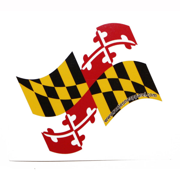 Waving Maryland Flag  / Sticker