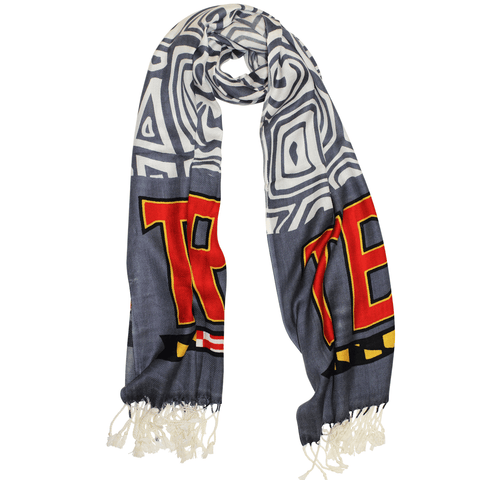 UMD Terps & Turtle Shell (Grey & White) / Scarf