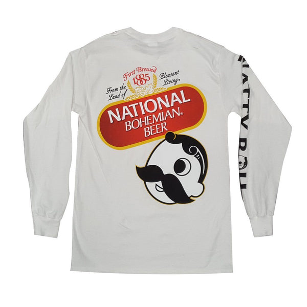 National Bohemian Beer Signature Classic (White) / Long Sleeve Shirt