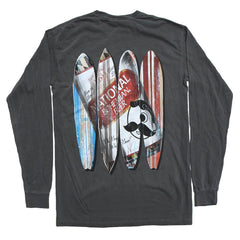 Natty Boh Can Surfboards (Pepper) / Long Sleeve Shirt
