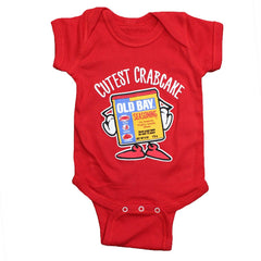 Cutest Crabcake (Red) / Baby Onesie - Route One Apparel