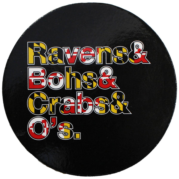 Ravens & Bohs & Crabs & O's (Maryland) / Cork Coaster