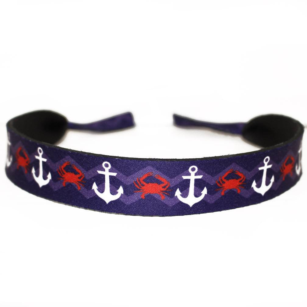 Chevron Crab & Anchor / Neoprene Croakie