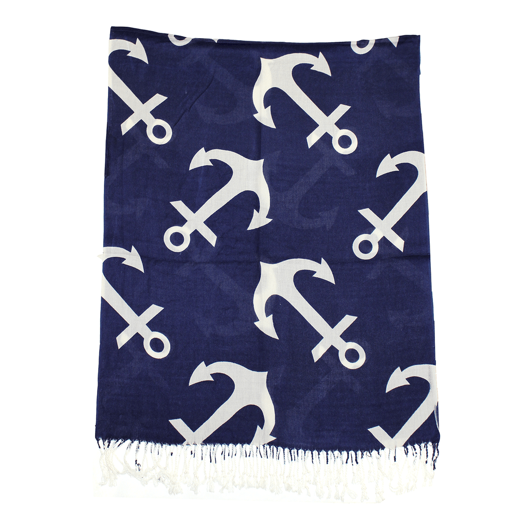 Nautical Anchor (Blue) / Scarf