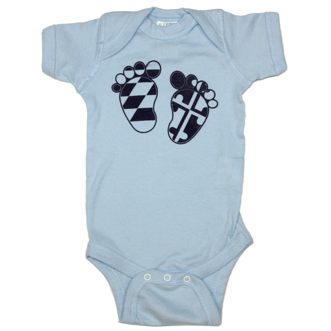 Maryland Feet (Blue) / Baby Onesie