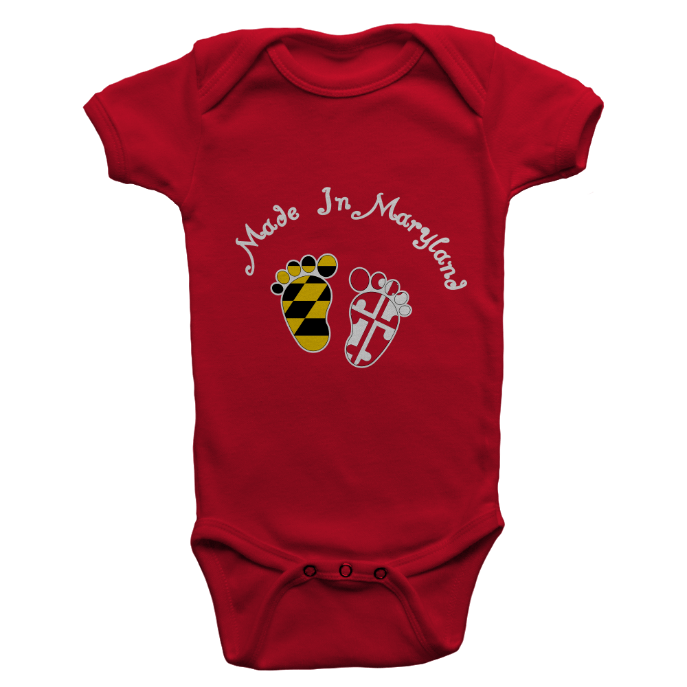 Made in Maryland (Red) / Baby Onesie