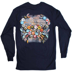 Natty Boh Bottle Cap (Navy) / Long Sleeve Shirt