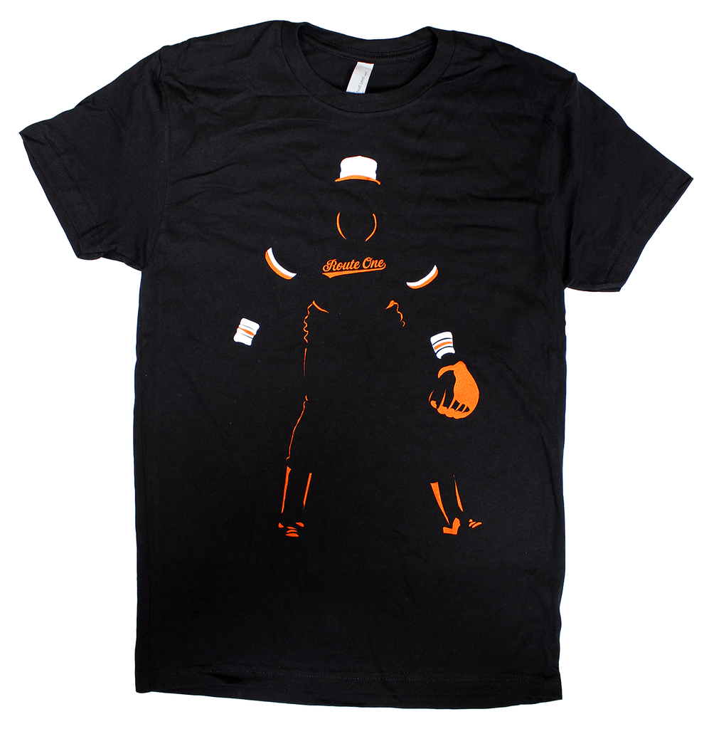 Baltimore Baseball Silhouette (Black) / Shirt - Route One Apparel